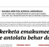 PLOTINA in Basque Newspapers